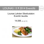 Lounas - Event, Lahti 13.9.2014